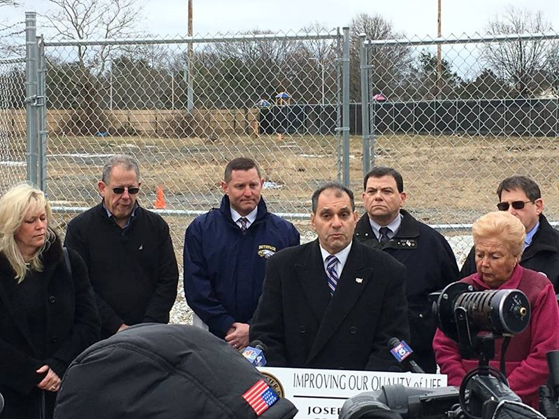 Bethpage Water District supports clean up at Local Community Park